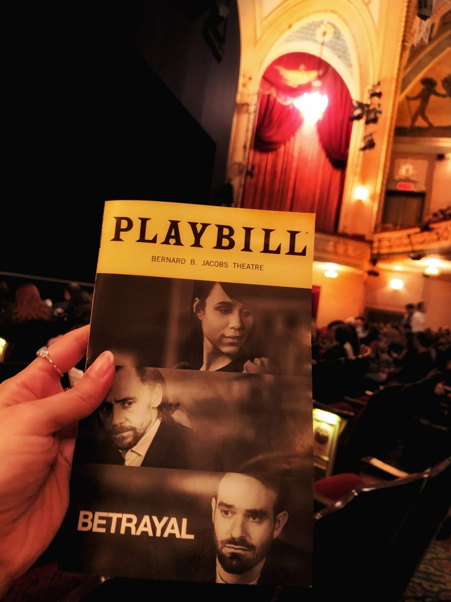 Playbill for Betrayal