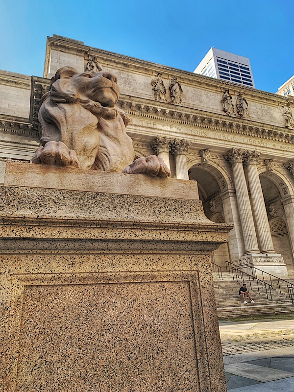 Patience the Lion at The New York Public Library