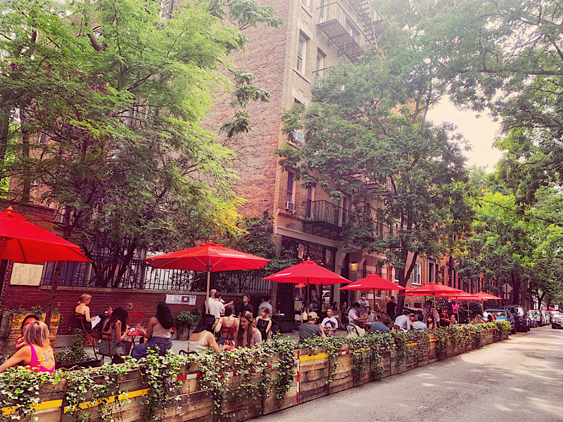 A restaurant in the West Village in Manhattan