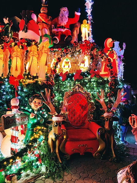 Dyker Heights Christmas Lights seen during my Dash & Lily's Book of Dares tour