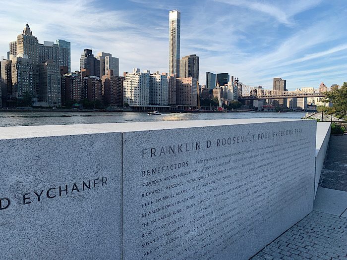 FDR Four Freedoms Park seen during my Everywhere, Always tour of New York City