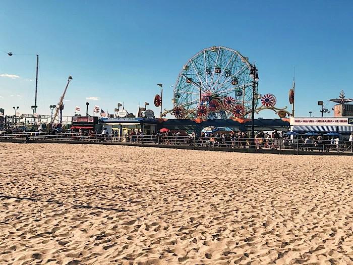 Coney Island, beach and the Wonder Wheel