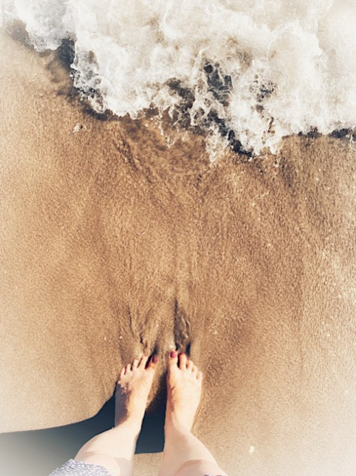 Dipping my toes in the ocean
