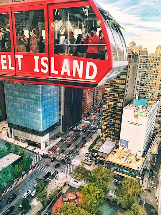 Aerial shot of NYC taken from the Roosevelt Island tram seen during my Everywhere, Always Tour of New York City
