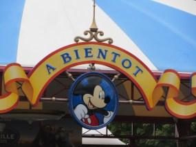August 2015 Paris Disneyland Exit