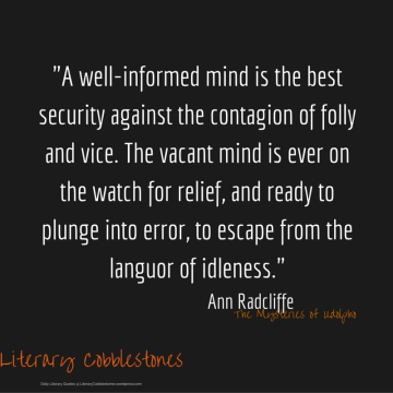 """October 2: Ann Radcliffe's """"The Mysteries of Udolpho"""" 