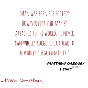 """October 3: Matthew Lewis' """"The Monk"""" 