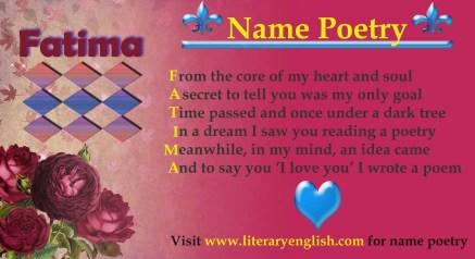 Name Poetry : Fatima