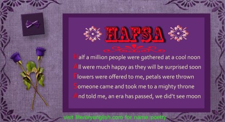 Name Poetry : Hafsa