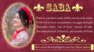 Name Poetry : Saba