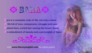 Name Poetry : Sara