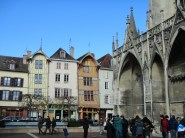 Eglise + half-timbered buildings