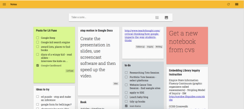Website/App Review: Google Keep — Literary Fusions