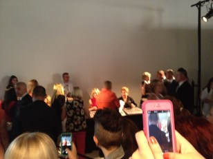 A blurry photo of Kate Mulgrew and Taylor Schilling.