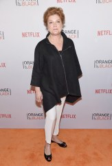 """Kate Mulgrew (Galina """"Red"""" Reznikov) said she would bring a rubber chicken because she can't have a real one."""