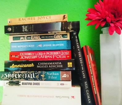 Half Read / Half TBR pile on my nightstand. #booklover #booklife #literati #bookstagram ©theliteratigirl