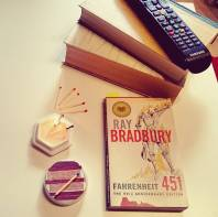 Today's entry for F in the #Atozchallenge: Fahrenheit 451 by Ray Bradbury #bookstagram ©theliteratigirl