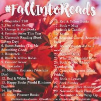 #fallintoreads Another November challenge #bookstagram