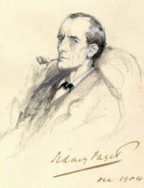 Sherlock Holmes in the Sidney Paget illustration in The Strand