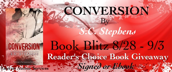 Conversion by S.C. Stephens: Guest Post,  Promotion and Giveaway