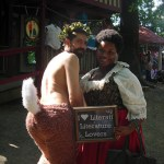 A half-furry and Amanda at the Renaissance Festival September 30th