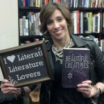 "Kami Garcia, co-author of ""Beautiful Creatures"", showing us some love while holding the best-seller!! :)"