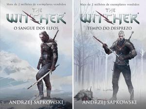A nova do capa do terceiro e quarto livros: Sangue dos Elfos e Tempo do Desprezo