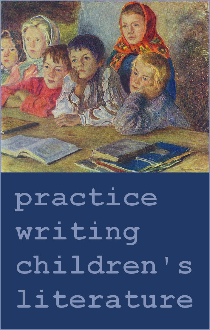 Practice writing for children - art by Nikolay Bogdanov-Belsky, 1918.
