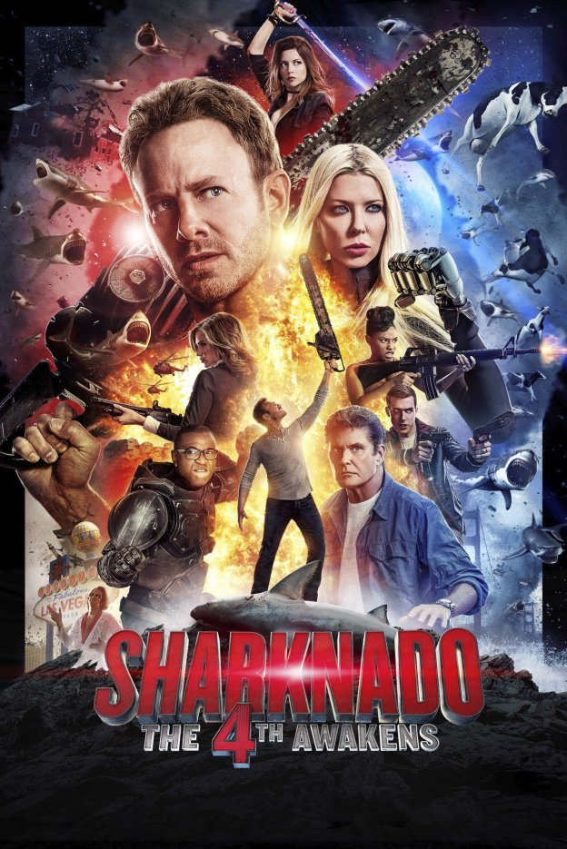 """Poster for the movie """"Sharknado 4: The 4th Awakens"""""""
