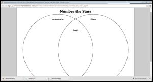 Number the Stars  Literature Portfolio Books fall open