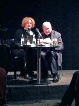 Tomas Venclova mit Übersetzerin im Literaturhaus
