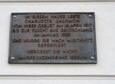 Gedenktafel am Wohnhaus der Familie Salomon, Wielandstr. 15, Berlin-Charlottenburg