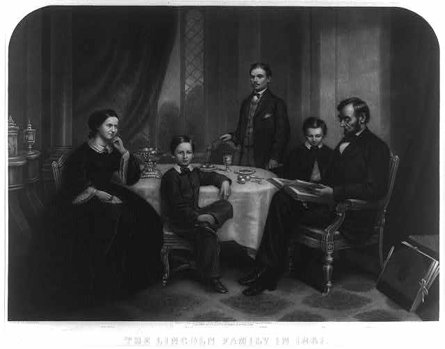 Lincoln_family_in_1861