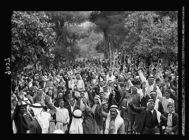 Palestine disturbances 1936.