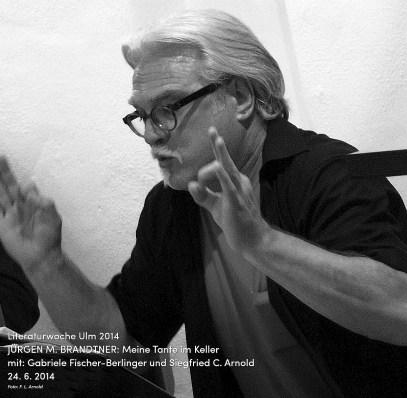 Starke Stimme, makabre Dichtkunst: Jürgen M. Brandtner, 24. 6. 2014