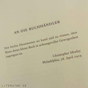 """Literatwo: """"Das Haus der vergessenen Bücher"""" ~ Christopher Morley"""