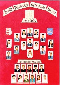 2001-ben végzett tanulók és tanáraik