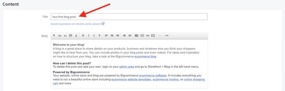 blog title bigcommerce seo