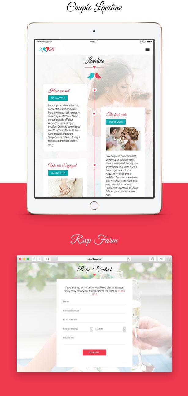 Lovebirds - Responsive Wedding HTML Template - 6