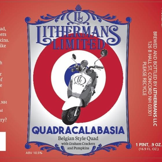 Quadracalabasia Release! Starts today at 4pm. Bottles and on tap for growlers and pints. #lithermanslimited #nospice #HowMuchCanYouCarry #concordNHbrewed #concordnh