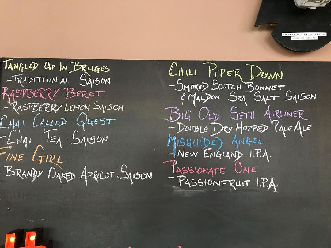 Here's today's offerings. We also have 10 cases of Misguided Angel cans left. #superbowlprovisions  Open today until 5pm.