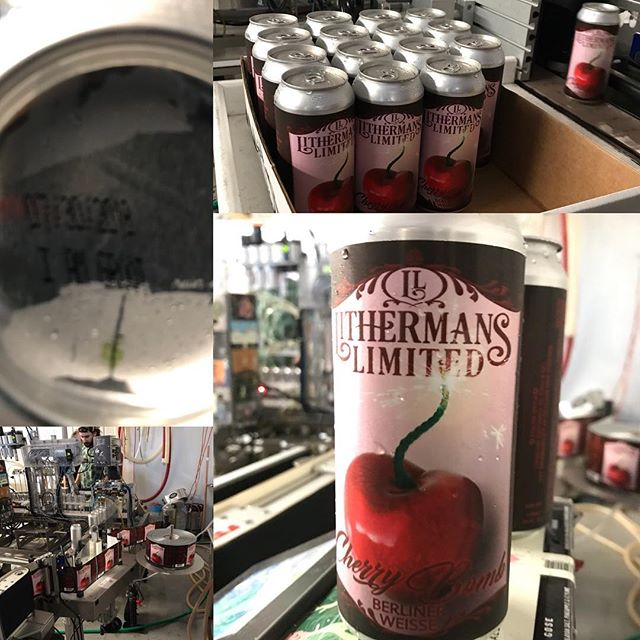 Cherry Bomb Berliner Weisse! Is getting Canned today and will be released this Thursday!