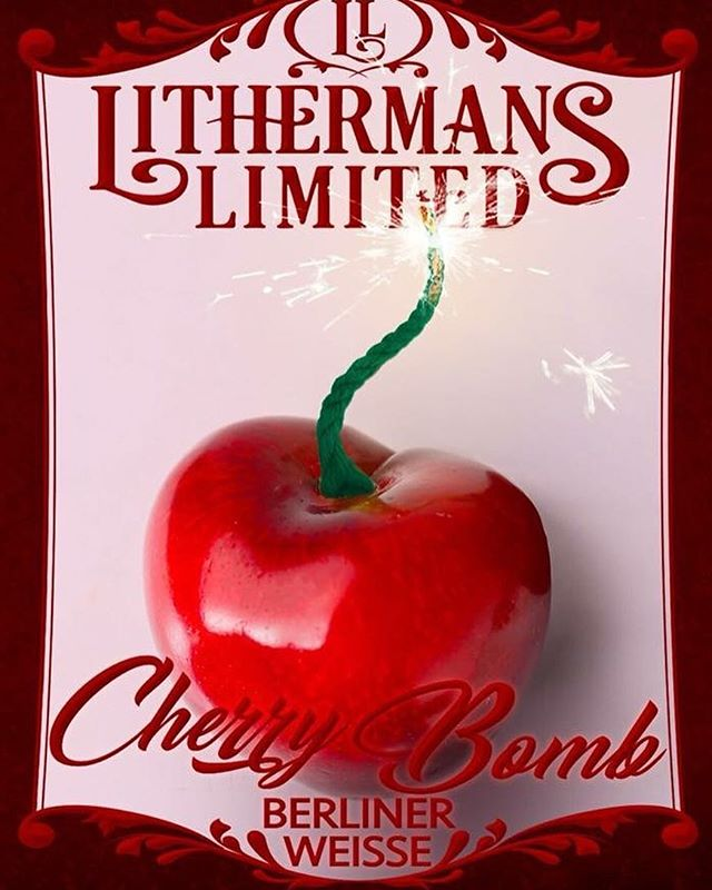 Have you tried CH-CH-CHERRY BOMB Cherry Berliner Weiss yet? This is the beer Everyone is talking about, and it is on tap and available in 4-packs of cans at Lithermans today, 12-7, along with 11 other beers. Cheers! #HowMuchCanYouCarry? #concordNHbrewed