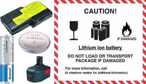 Lithium battery examples and label
