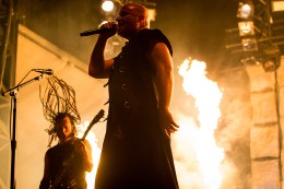 MONTREAL, QUE.: August 7, 2016-- Disturbed perform during the second day of the 2016 Heavy Montreal festival at Parc Jean Drapeau on Sunday August 7, 2016. (Tim Snow / EVENKO MANDATORY CREDIT)