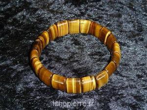 Bracelet en oeil du tigre carré