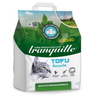 litière tranquille végétale tofu recyclé gros volume