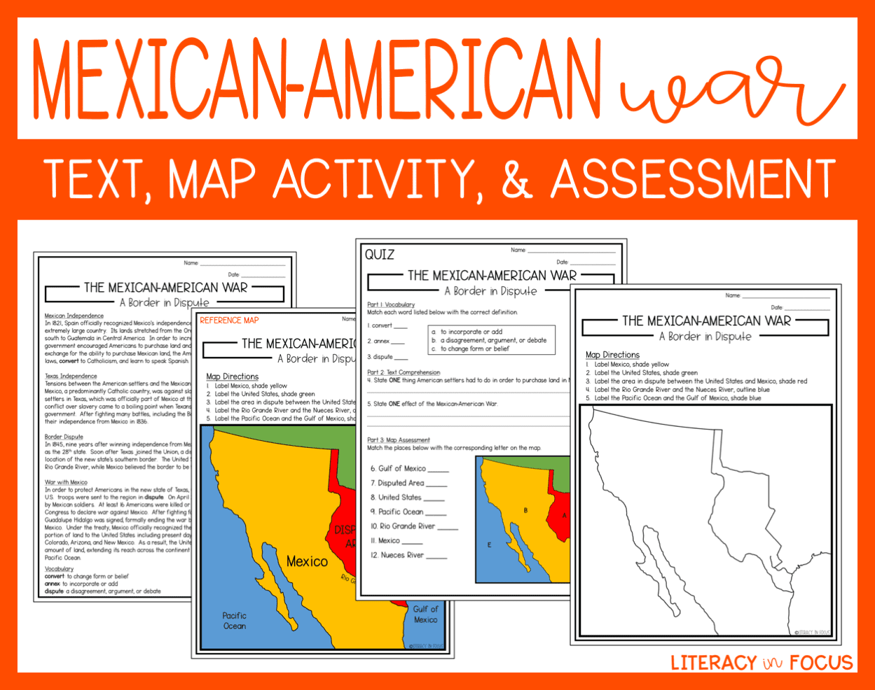 Mexican American War Lesson And Assessment
