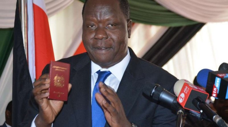 CS Fred Matiang'i Gives Strict Deadline for Old Passport Switch