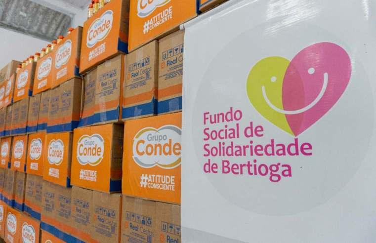 Grupo Farma Conde realiza doação de cestas básicas e suplementos ao Fundo Social de Bertioga
